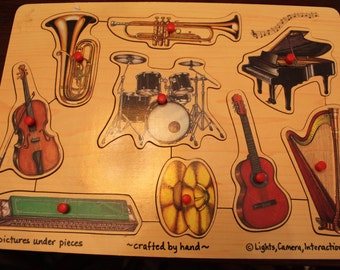 Musical Instruments Wooden Puzzle