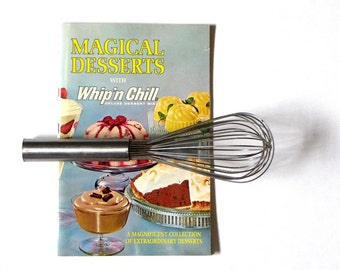 Jell-O Whip and Chill Advertising Cookbook Magical Desserts Deluxe Dessert Mix 1965 Collection