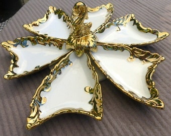 Vintage Porcelain Hors  D'Oeuvre Tray