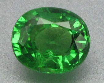 1.07 Ct Natural Green Tsavorite Garnet Unheated