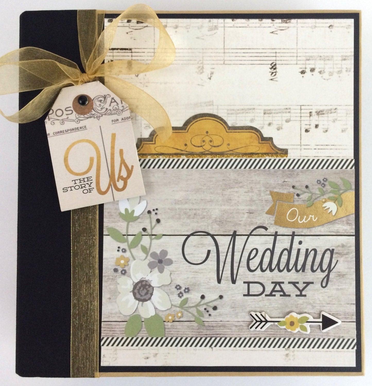 Wedding Scrapbook Mini Album Premade Pages Engagement Bridal