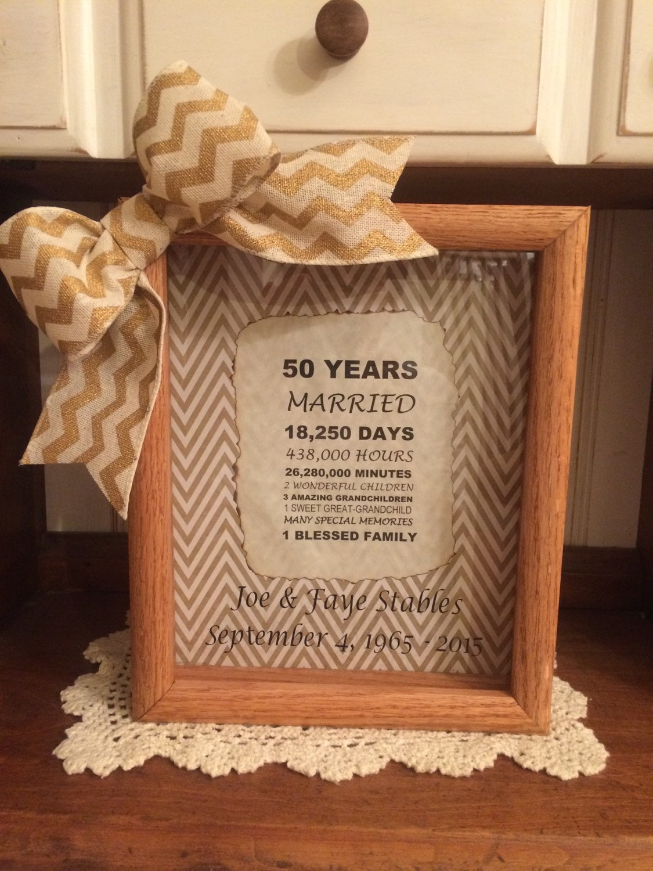 Unusual 50th Wedding Anniversary Gifts: Personalized 50th Wedding Anniversary Gift Years Months