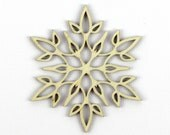 Delicate Flower - Laser Cut Wood Snowflake in Multiple Sizes and Quantity Discounts