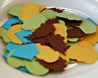 Camping Theme Birthday Party Confetti, Campout Party Decorations