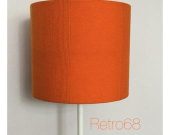 Orange LampShade Lightshade Original Vintage 1970s Orange Fabric 20cm