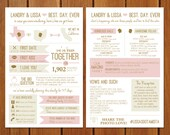 State of Bliss Info Graphic Wedding Program