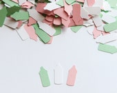 Bottle Confetti - Baby Shower Decoration - Baby Shower Confetti - Light Pink and Mint Baby Shower Decorations