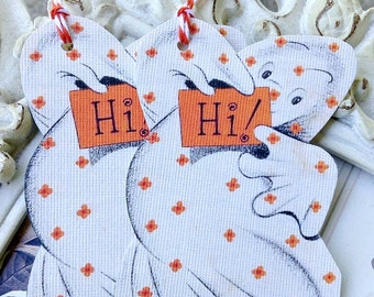 Halloween Ghost Tags - Set of 6