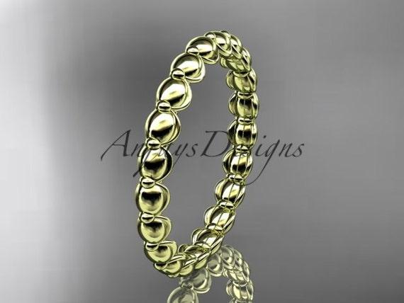14k yellow gold wedding ring, engagement ring, wedding band ADLR34B