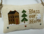 Bless Our Home Cross Stitched Ornament