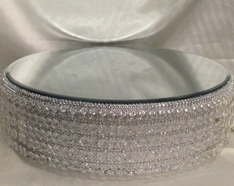 Crystal waterfall design wedding cake stand -  crystal effect finish