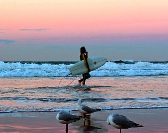 Manly Beach Surfer Photography Print.