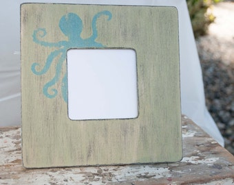 Green and Blue Octopus Frame