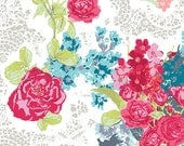 Fitted Crib Sheet: Flowers and Lace    by JuteBaby
