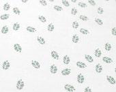 Litterfall in Overcast : organic cotton handprinted fabric panel