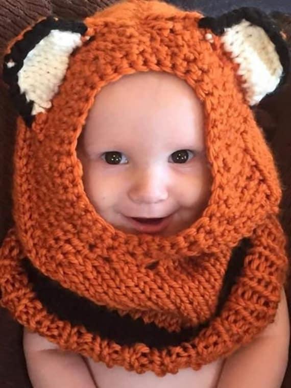 Knit Fox Hoodie/Hat