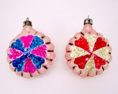 Vintage Glass Christmas Ornaments Made in Poland 1960s