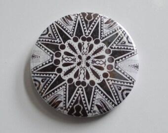 Africa tribal art design fridge magnet bottle opener black and white gift