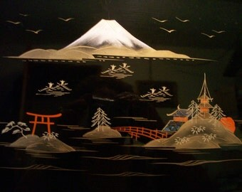 Oriental Tray Signed Japan