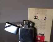 Vintage Zippo Cigarette Lighter / 1976  Stainless Steel Zippo Lighter /  Zippo Bradford Pa. Made in USA