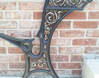 Vintage Cast Iron School Desk Frame Steampunk