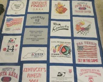 Team/Sport T Shirt Memory Quilts