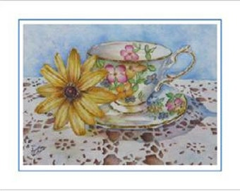 Lady Beatrice 6 Blank Frameable Tea Cards Party Favors