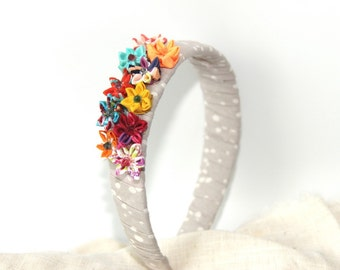 Mini Flower garden Headband multicolor