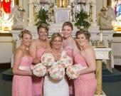 Wedding, Sola Bouquet, Burlap Peach  Mint Bouquet, Alternative Bouquet, Peach Bouquet, Sola flowers, Wood Bouquet