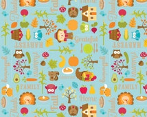 Harvest Main Blue - 1 Yard  Cut - Blue Fabric  - Cotton Fabric - Riley Blake Designs - Cotton Fabric - Quilting Fabric