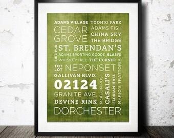 Dorchester 02124 Poster - 11x14