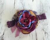 Baby Girl Headband- Baby Headbands- Matilda Jane headband- Newborn Headband- flower headband- Boho Headband-Newborn Headband