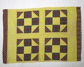 Antique Pennsylvania single patchwork pillowcase, ca. 1880, churn-dash