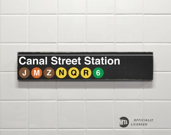 Canal Street Station - New York City Subway Sign - Wood Sign