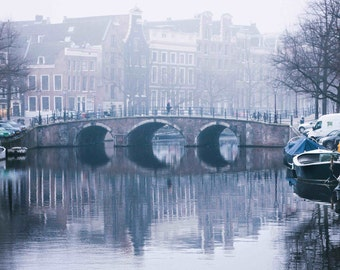 Amsterdam Reflected - Fog - Photography
