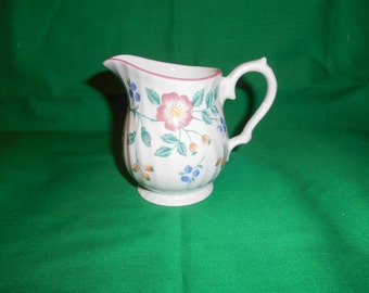 One (1), 6oz Creamer, from Churchill, in the Briar Rose Pattern.