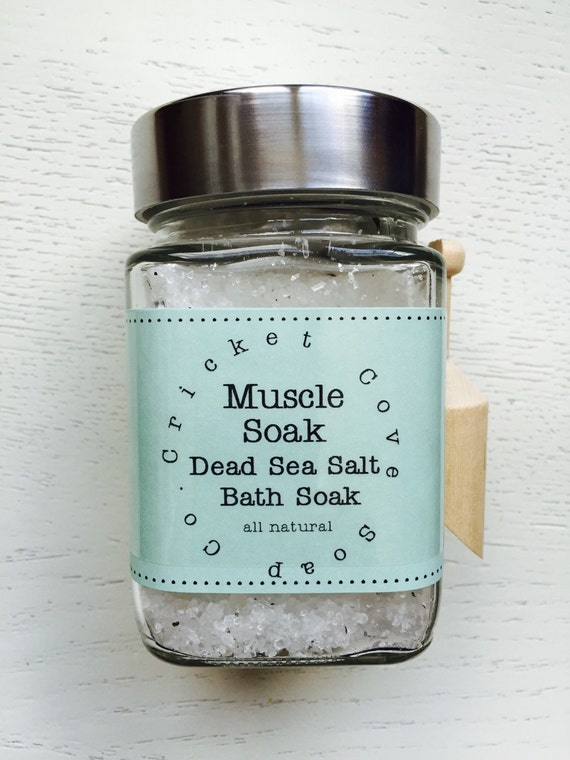 BATH SALTS - Muscle Soak - Natural Bath Salts - Muscle Soak Dead Sea Salt Bath Soak - All Natural Bath Salts - Vegan