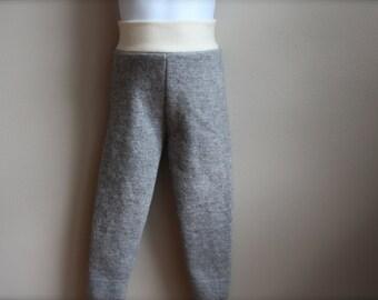 Merino Wool Longies, Wool longies, Wool pants, merino wool, base layer, 12-18 month