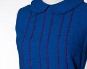 Vintage Peter Pan Collar Shift Dress 1960's Madmen LARGE/XL