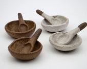 "Rustic Salt/Spice Bowl and Spoon - Salt and Pepper Bowls - Condiment bowls - ""Mainichi"" range"