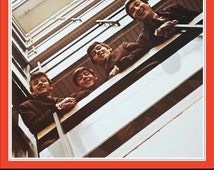 The Beatles 1962-1966 and 1967-1970 Albums Promo Poster Stand-Up Displays - Set Of Both Red & Blue - Beatles Band Beatles Collectibles Retro