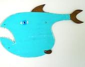 Al CARP-own  #8 Reclaimed wood fish, funky fish, whimsical fish art, wall art