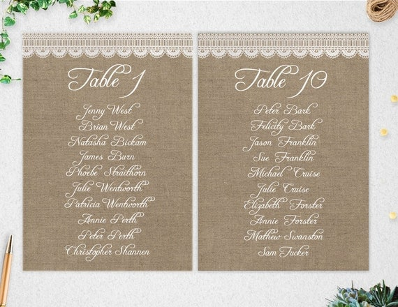 Editable table seating chart printable wedding template il570xn pronofoot35fo Gallery