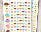 Vanilla Cupcake, Set of 24, 40 or 77 - Perfect for Erin Condren, Limelife, Mambi and Plum Paper Planners
