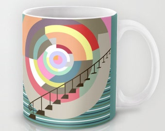 Cute Ceramic Mug, Tea Mug, Unique Coffee Mug, Drinking Mug, Cool Coffee Mug, Colourful Mug