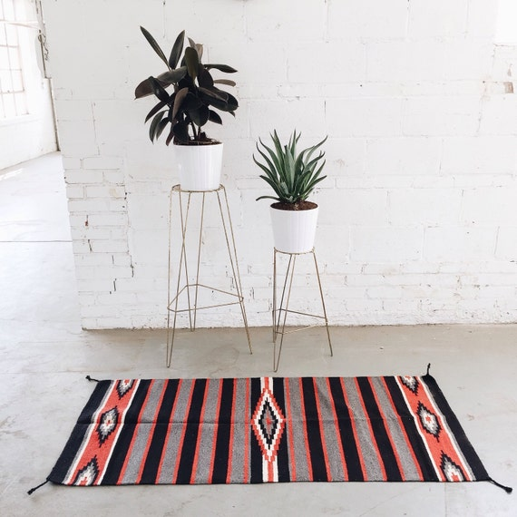 Southwest Mexican Navajo Textile Rug Table By