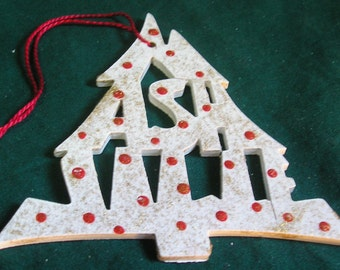 Nashville, handcrafted tree shaped ornament