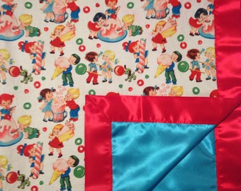 Retro Sweet Shop Blanket