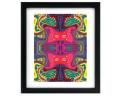 8.5 x 11 Psychedelic Trippy Art Print, Closed Edition, Signed by Artist