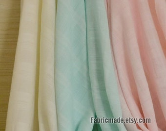 Light Green Pink Beige Rayon Linen Fabric For Summer Soft For Clothing Curtain 1/2 Yard